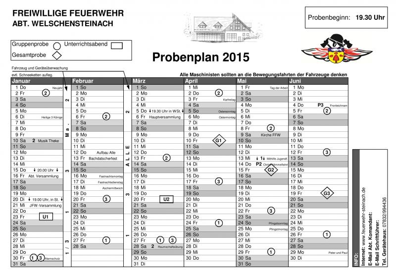 Probenplan 2015–1