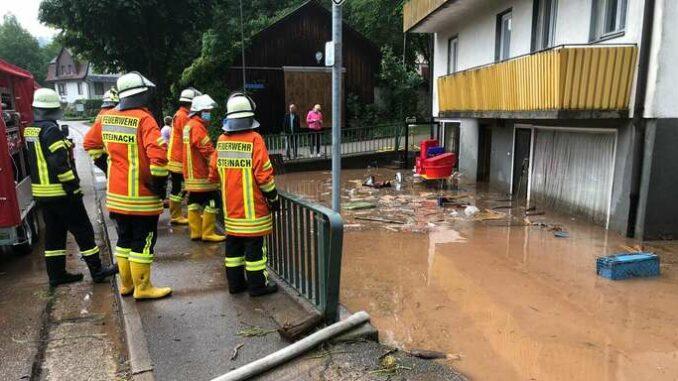 Einsatz der Feuerwehr Steinach in Schuttertal ©Feuerwehr Steinach